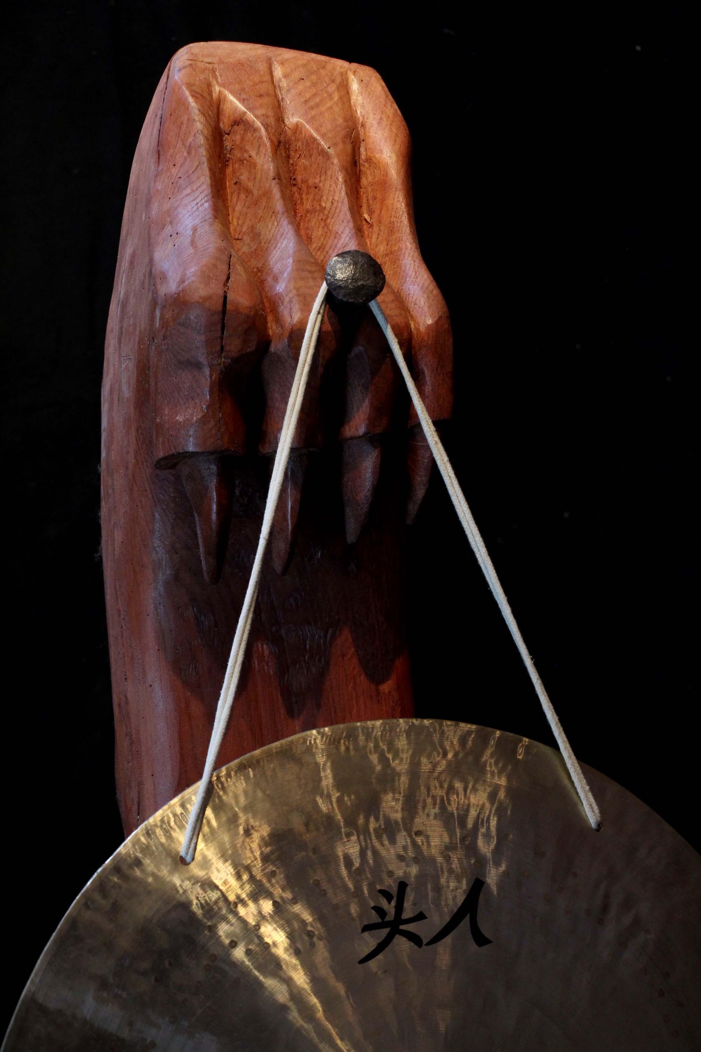Porte gong sur pied #3 - détail