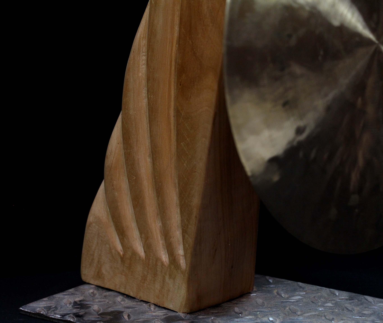 Porte gong sur pied #5 - détail